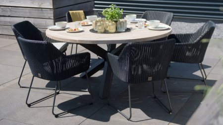 4 seasons outdoor avila diningset antraciet
