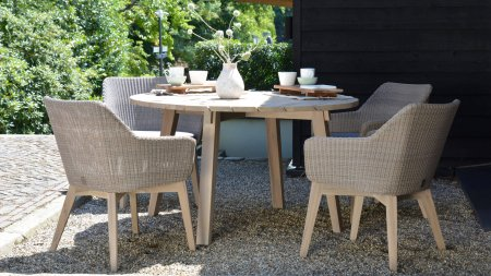 4 seasons outdoor avila diningset pebble