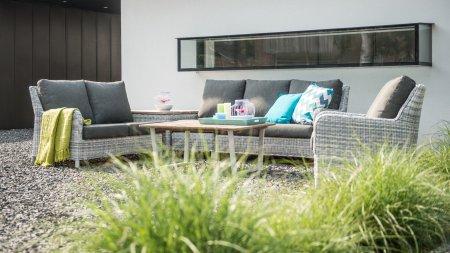 4 seasons outdoor indigo loungeset ice