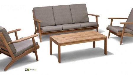 AppleBee Baltic Loungeset Teak 1