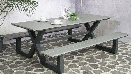 sensline jonas picknickbench grey