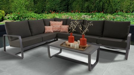 taste by 4seasons mauritius hoek loungeset slate grey