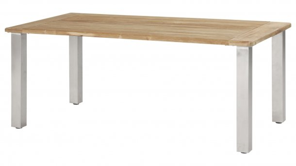 4 Seasons Outdoor Casa Tafel Teak/RVS 180cm