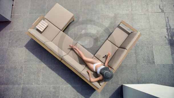 4 seasons outdoor cosmo taupe loungeset