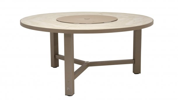 4seasons outdoor diva tafel taupe rond