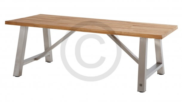 4 seasons outdoor icon tafel 240 rvs teak