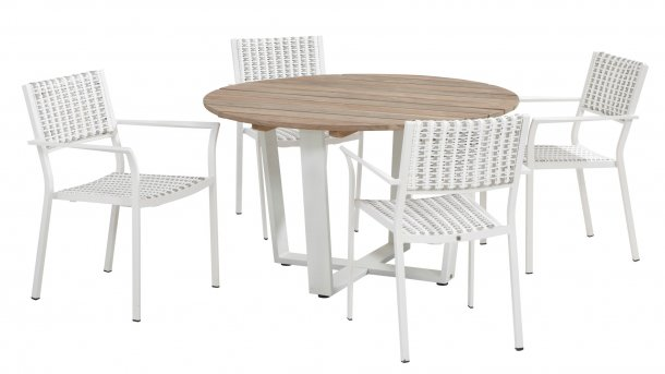 4 seasons outdoor piazza dining set