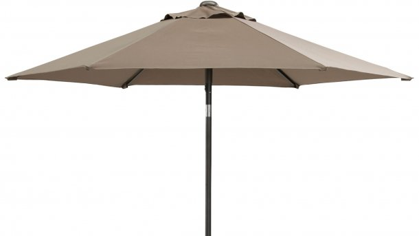 4 Seasons Outdoor Push Up Parasol Ø 250cm Taupe