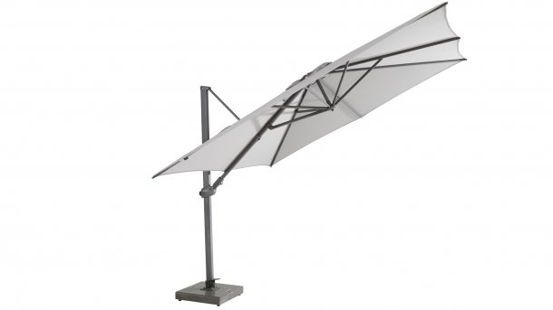4 seasons outdoor siesta premium 300x300cm antraciet mid grey