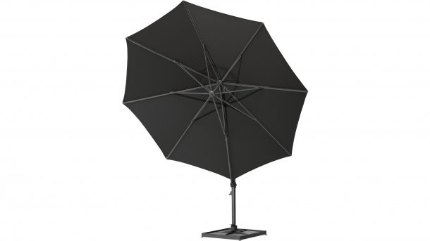 4 Seasons Outdoor Siesta Hangparasol Ø 350cm Black