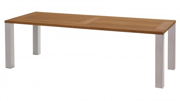 4 seasons outdoor union tuintafel 240cm teak rvs