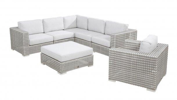 4 seasons outdoor madras loungeset met loungestoel