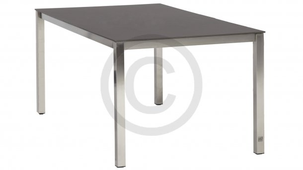 4 Seasons Outdoor Rivoli Tafel RVS/Mid Grey 220cm