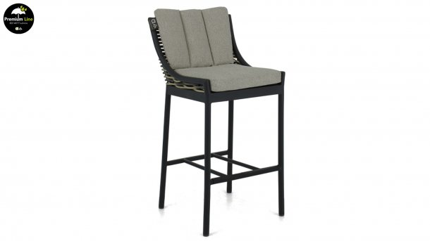 milou bar stool black