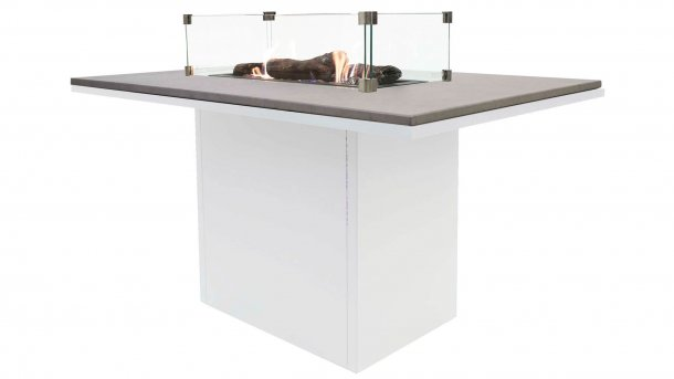 cosi fires cosiloft relax table white grey with glasset dining tafel vuurtafel