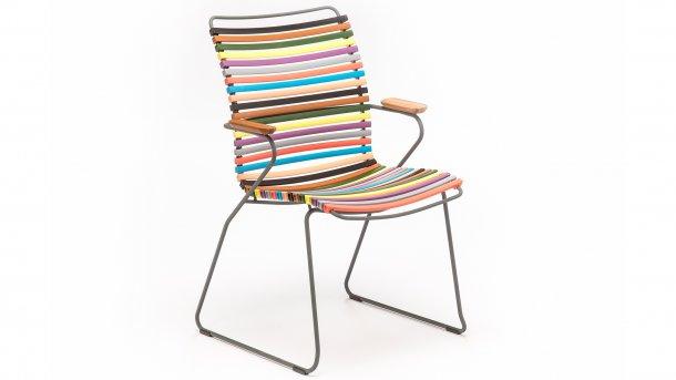 houe click diningstoel hoge rug multi color 1