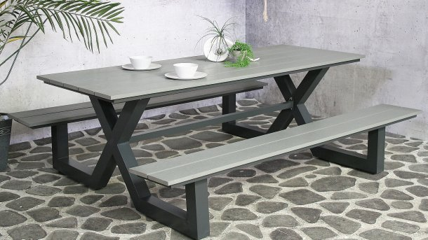 sensline jonas picknickbench grey