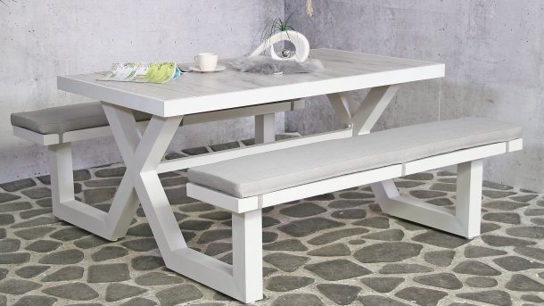sensline galaxy picknickbench white