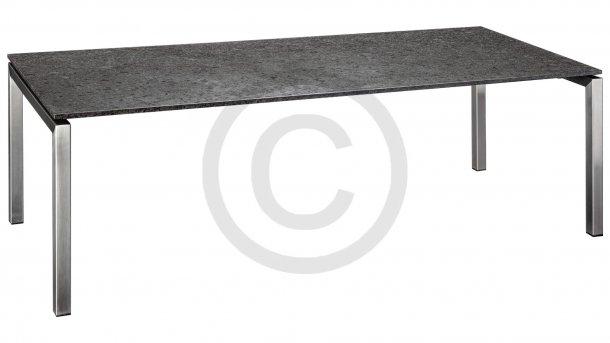studio 20 bergamo tafel graniet 220cm rvs pearl grey satinado