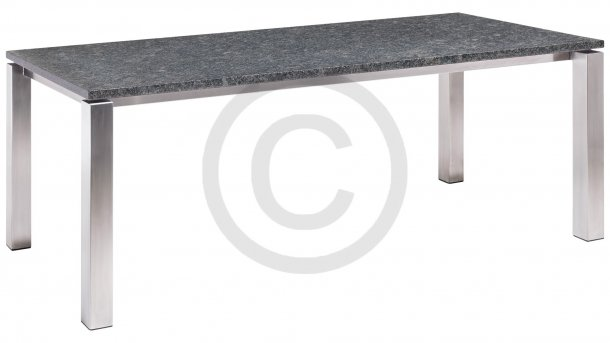 studio 20 stavanger tafel graniet 240cm pearl grey satinado