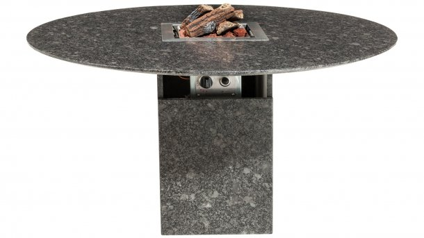 Studio 20 Vulcano Tafel 140cm Black Diamond Satinado