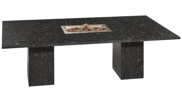 Studio 20 Vulcano Tafel 240cm Black Diamond Satinado
