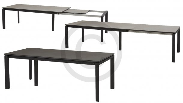 taste by 4seasons senator uitrektafel tafel matt carbon