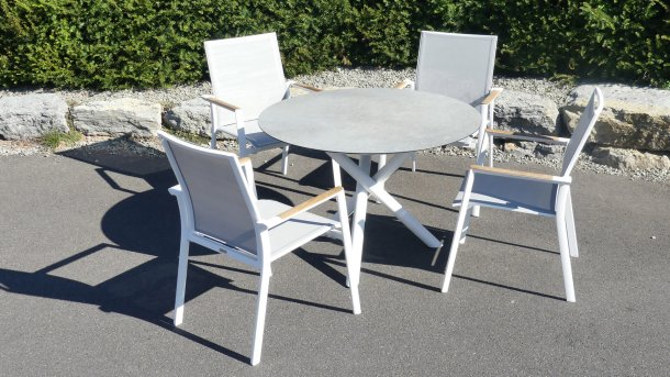 fly tuinset aluminium dining white