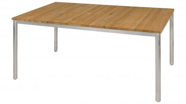 zebra naxos tafel rvs ronde poot teak 160cm