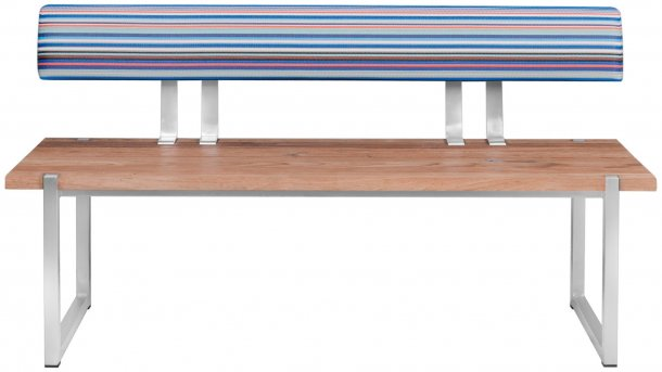 zebra quadux bank 140x43 met rugleuning blue stripe