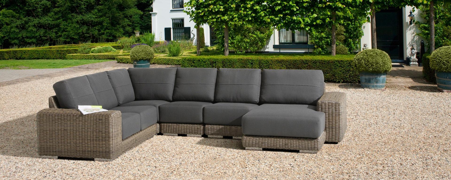 4 seasons outdoor kingston hoek loungeset pure best deal tuinmeubelen. Black Bedroom Furniture Sets. Home Design Ideas