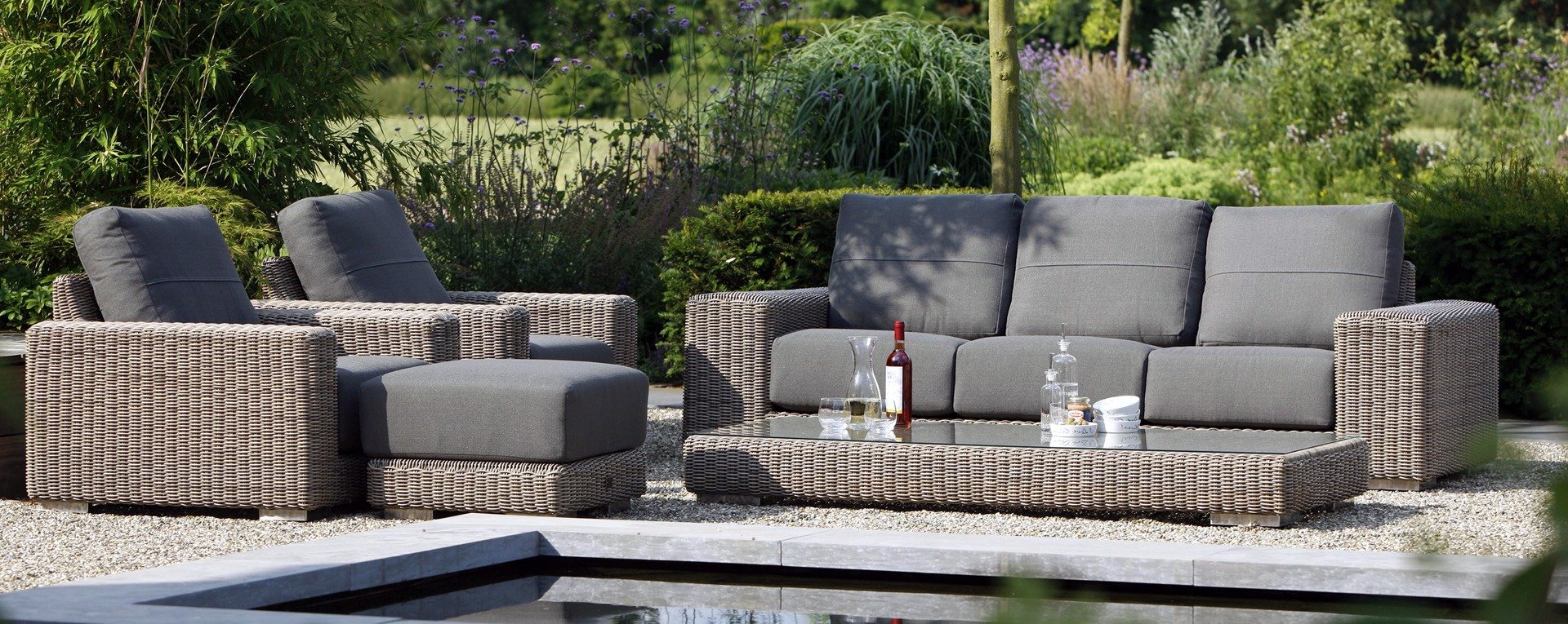 4 seasons outdoor kingston loungeset pure best deal tuinmeubelen. Black Bedroom Furniture Sets. Home Design Ideas