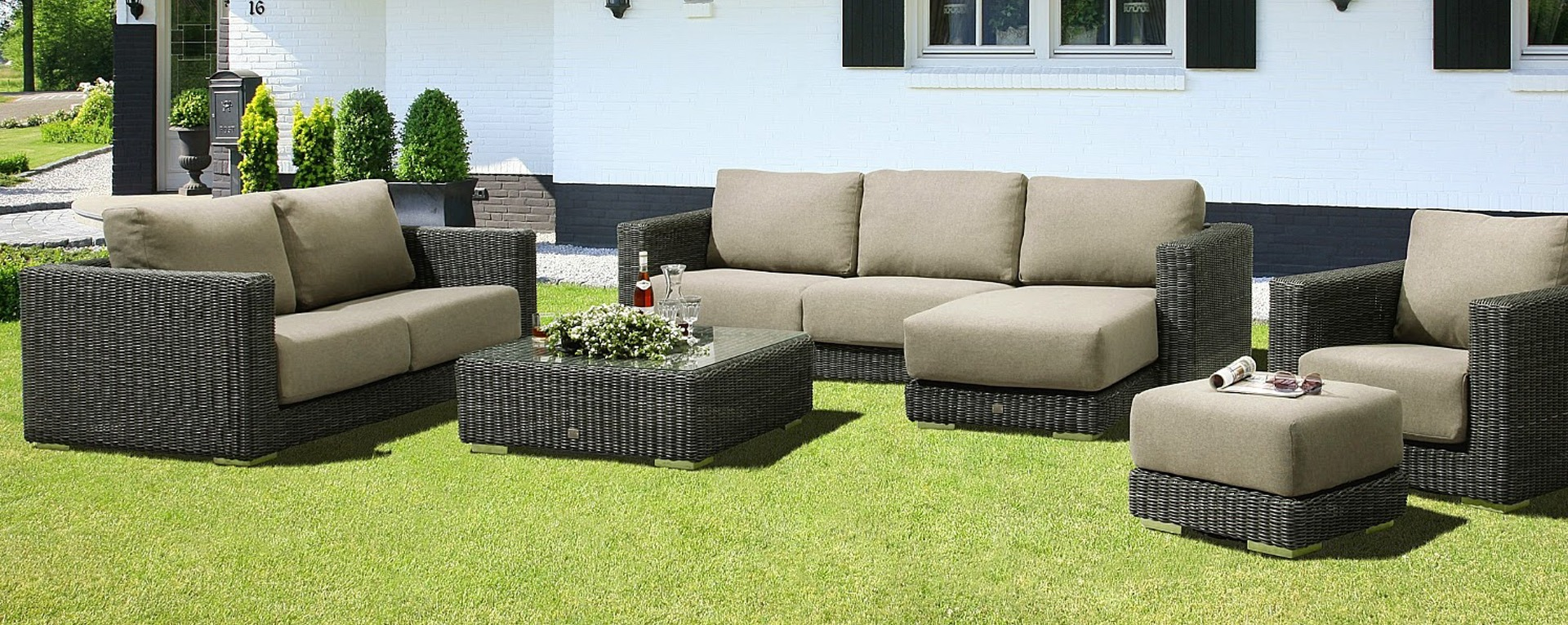 4 seasons outdoor somerset loungeset charcoal best deal tuinmeubelen. Black Bedroom Furniture Sets. Home Design Ideas